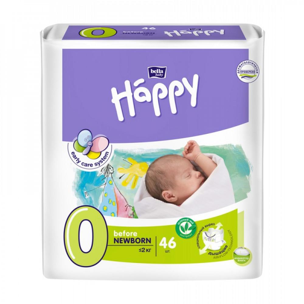 Підгузки Bella Happy Before Newborn (до 2-х кг) 46 шт.