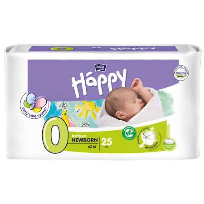 Bella Happy Before Newborn diapers (up to 2 kg) 25 pcs.