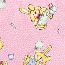 The diaper is flannel rose Rabbit
