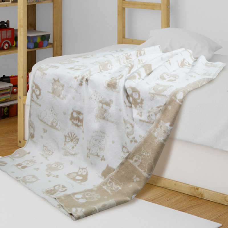 The blanket is cotton, 90х100 cm