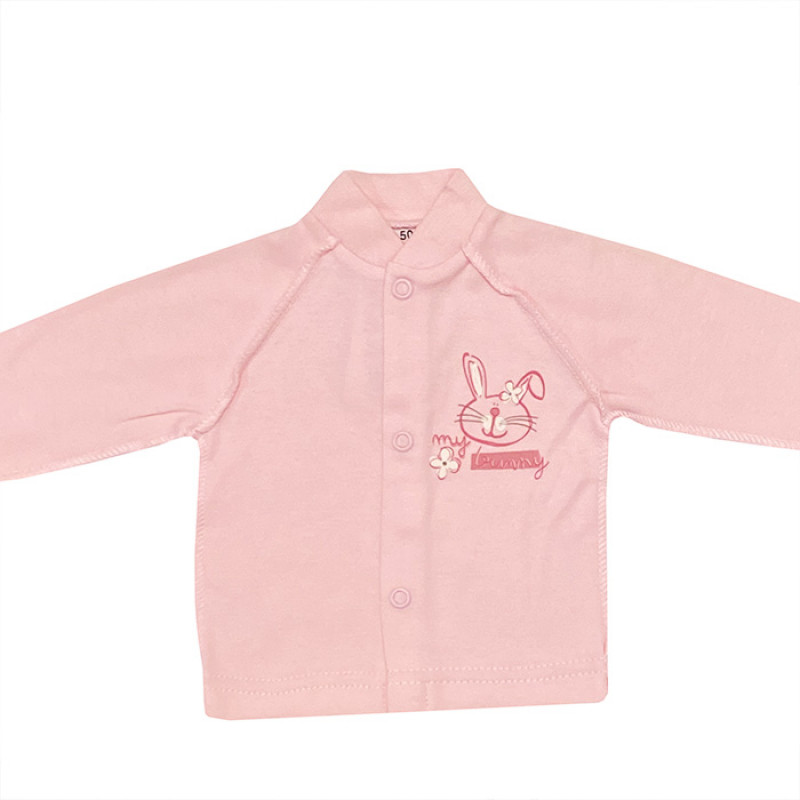 Pink undershirt with buttons